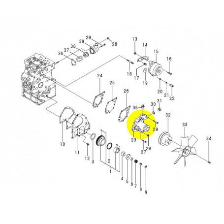 Yanmar SV08-1, SV08-1A, SV08-1EX, SV08-1AS Wasserpumpe