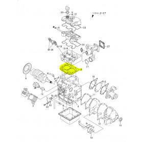 Yanmar SV08-1, SV08-1A, SV08-1AS, SV08-1EX Zylinderkopfdichtung Motor 2TE67-LBV 2TE67-LBV3