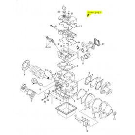 Yanmar SV08-1, SV08-1A, SV08-1AS, SV08-1EX Dichtsatz komplett Motor 2TE67-LBV 2TE67-LBV3