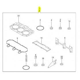 Yanmar SV15, SV15-2, SV17, SV17-2, SV17E, SV17EX-2 Dichtsatz komplett Motor 3TNV70-XBVA1 3TNV70-VBVA
