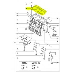 Yanmar SV20, SV22 Zylinderkopfdichtung Motor 3TNV76-SBVA2