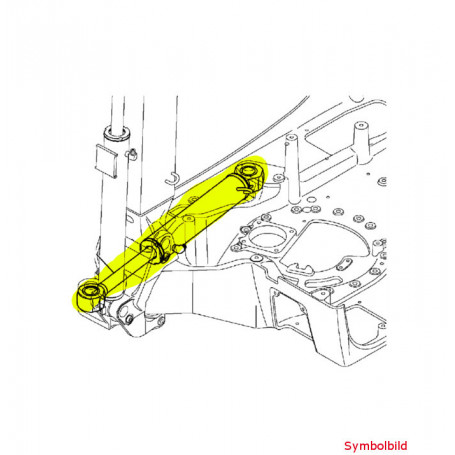 Yanmar SV15, SV15-2, SV16, SV17, SV17-2, SV17E, SV17-EX2, SV18 Schwenkzylinder