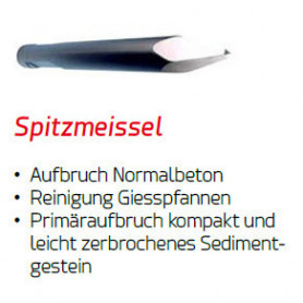 SPITZMEISSEL für Yanmar Hydraulikhammer DMS 300 Ø 72